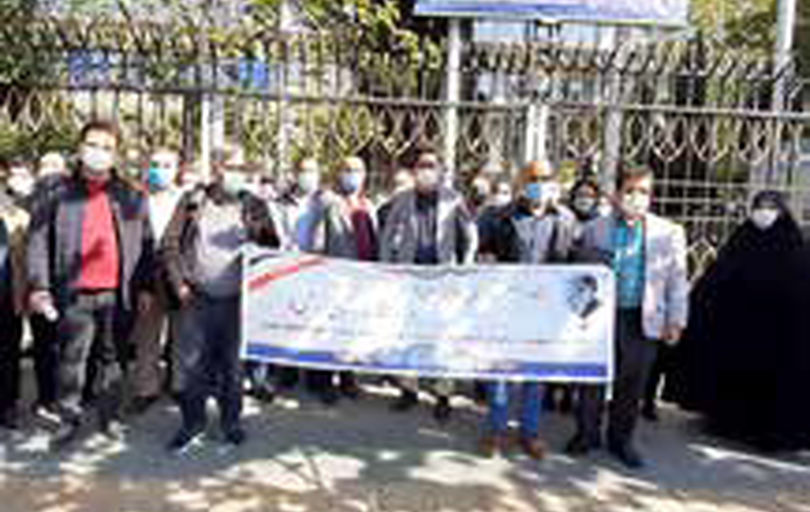 تجمع مشاوران ایمنی و بهداشت کار مقابل وزارت تعاون