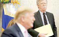 بولتن: آمریکا پریشان است، نه دشمنان ما