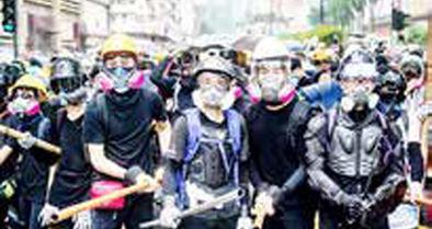 ماسک چهره در اعتراضات هنگکنگ ممنوع شد