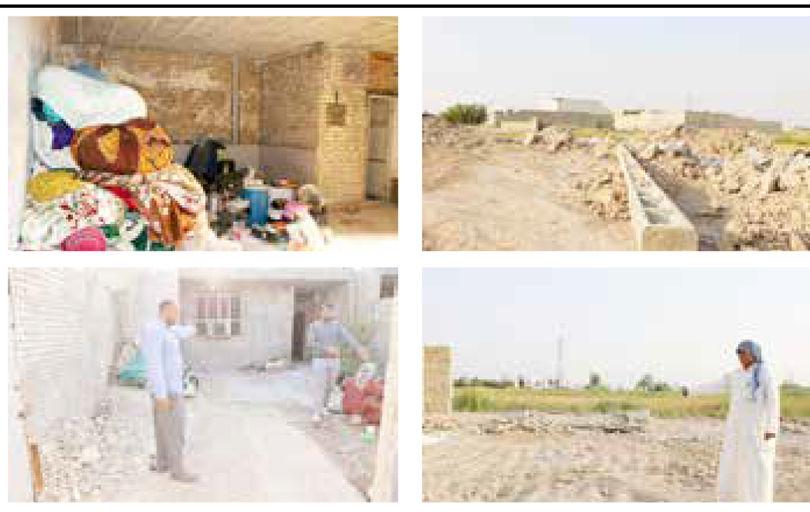 تخریب یک روستا با 300 خانوار