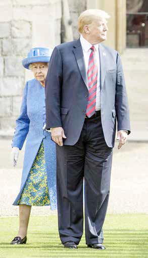 پای ملکه، جای پای ترامپ؟