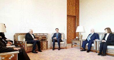 دیدار ظریف و اسد