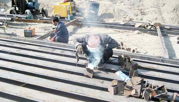 کارگران جوشکار 25روز در ماه بیکارند