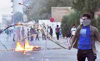 ۴۰ زخمی در درگیری معترضان با نیروهای امنیتی در بغداد