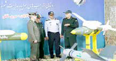 رونمایی از بمبهای هواپایه نقطه زن در وزارت دفاع