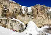 آبشار یخزده سنگان