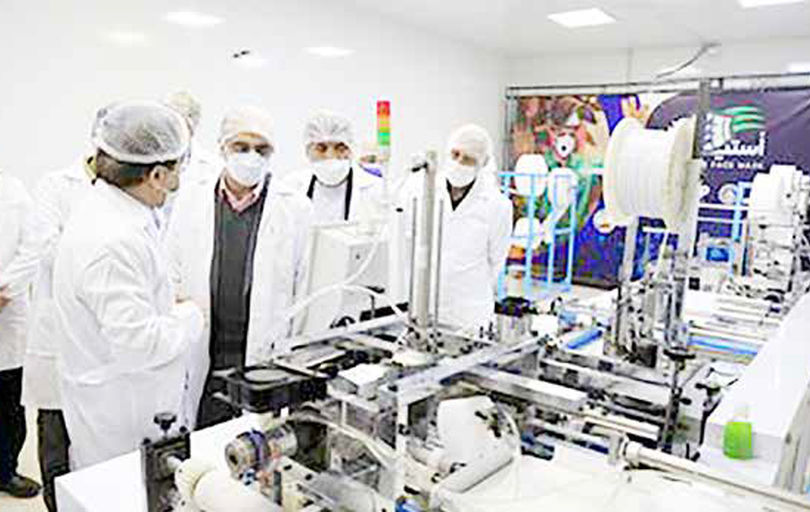 افتتاح خط تولید ماسک پیشرفته  N95 با سرمایهگذاری فولاد مبارکه