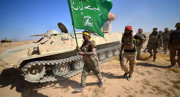 درگیری میان نیروهای حشد شعبی و اعضای داعش در غرب عراق
