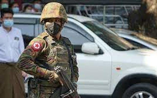 درگیری ارتش میانمار با معترضان ضد کودتا