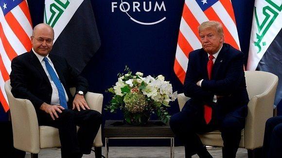 تاکید روسای جمهور آمریکا و عراق بر ادامه همکاری نظامی
