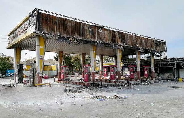 آتش بنزین روی بانکها، فروشگاهها و جایگاههای سوخت